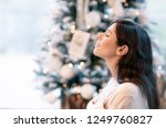 side view portrait of beautiful ... | Shutterstock . vector #1249760827