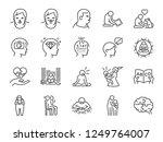 autistic awareness icon set.... | Shutterstock .eps vector #1249764007