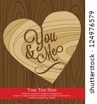 love card design. vector... | Shutterstock .eps vector #124976579