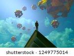 2d illustration. abstract... | Shutterstock . vector #1249775014