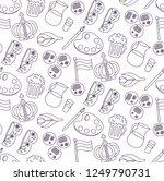 holland netherlands doodle line ... | Shutterstock .eps vector #1249790731