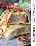 swabian maultasche with onions...   Shutterstock . vector #1249791124