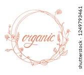 organic product badge witn... | Shutterstock .eps vector #1249793461
