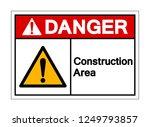 danger construction area symbol ... | Shutterstock .eps vector #1249793857