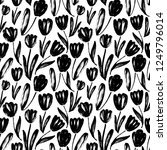 tulips hand drawn seamless... | Shutterstock .eps vector #1249796014