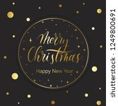merry christmas and happy new... | Shutterstock .eps vector #1249800691