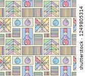 seamless vector pattern.... | Shutterstock .eps vector #1249805314