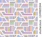 geometric vector seamless... | Shutterstock .eps vector #1249805344