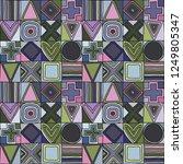 geometric vector seamless...   Shutterstock .eps vector #1249805347