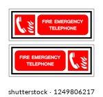 fire emergency telephone symbol ... | Shutterstock .eps vector #1249806217