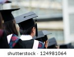 back of graduates during... | Shutterstock . vector #124981064