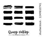 set of black brush stroke and... | Shutterstock .eps vector #1249810741