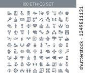 100 ethics universal icons pack ... | Shutterstock .eps vector #1249811131