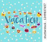 vacation poster or postcard ... | Shutterstock .eps vector #1249837657