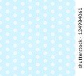 blue polka dot fabric... | Shutterstock .eps vector #124984061