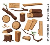 timber or chopped wooden trunk  ... | Shutterstock .eps vector #1249848121