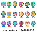 set of isolated gaming wheels... | Shutterstock .eps vector #1249848157