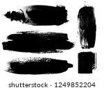 grunge paint stripe . vector... | Shutterstock .eps vector #1249852204