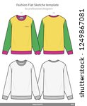 sweatshirts fashion flat...   Shutterstock .eps vector #1249867081