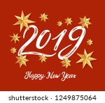 new year 2019 greeting card... | Shutterstock .eps vector #1249875064