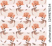 seamless floral pattern with... | Shutterstock .eps vector #1249878154