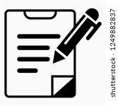 glyph writing vector icon   Shutterstock .eps vector #1249882837