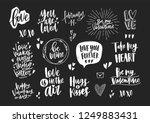 set of elegant valentine's day... | Shutterstock .eps vector #1249883431