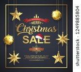 christmas sale poster design... | Shutterstock .eps vector #1249885804