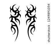 tribal symmetric pattern... | Shutterstock .eps vector #1249891054