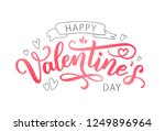 happy valentines day with... | Shutterstock .eps vector #1249896964