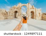 asian young woman tourist in... | Shutterstock . vector #1249897111