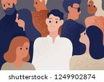 happy and satisfied young man... | Shutterstock .eps vector #1249902874
