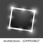 square polaroid realistic... | Shutterstock .eps vector #1249910827