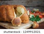 sourdough monkey bread closeup. ... | Shutterstock . vector #1249912021