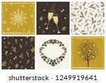 merry christmas collection of... | Shutterstock .eps vector #1249919641