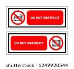do not obstruct symbol sign ... | Shutterstock .eps vector #1249920544