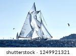 sailing yacht under full sail... | Shutterstock . vector #1249921321