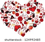 heart  consisting of a number... | Shutterstock .eps vector #124992485