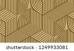 3d golden matte metal hexagons... | Shutterstock . vector #1249933081