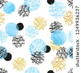 seamless dotted pattern with... | Shutterstock .eps vector #1249936237