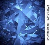Luxury Blue Crystal Facet...