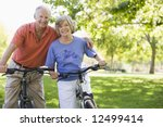senior couple on cycle ride in... | Shutterstock . vector #12499414