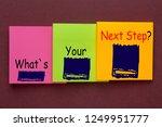 what s your next step written... | Shutterstock . vector #1249951777