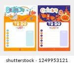 cartoon to do list design.... | Shutterstock .eps vector #1249953121