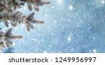 christmas background with fir...   Shutterstock . vector #1249956997