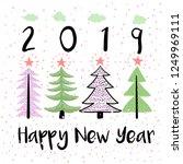 happy new year vector modern... | Shutterstock .eps vector #1249969111