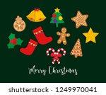 christmas design elements ... | Shutterstock .eps vector #1249970041