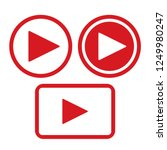 play button icon | Shutterstock .eps vector #1249980247