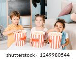 adorable multiethnic children... | Shutterstock . vector #1249980544