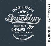 athletic sport new york... | Shutterstock .eps vector #1249990111